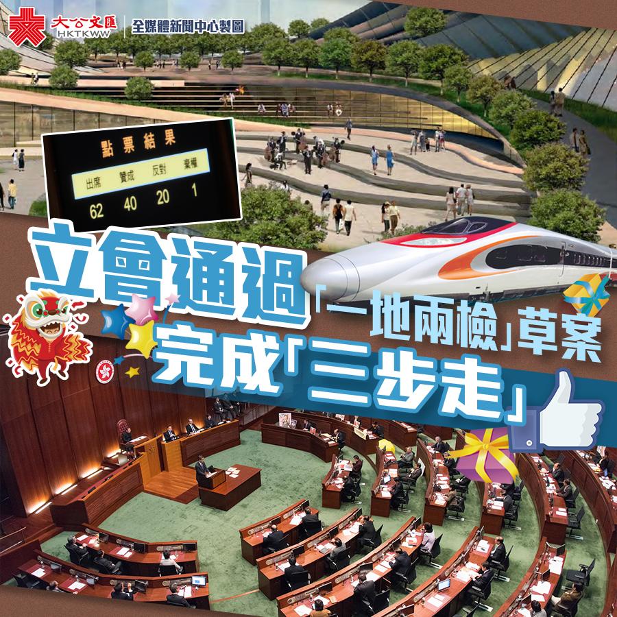 港立會三讀通過「一地兩檢」草案 「三步走」完成-華發網繁體版