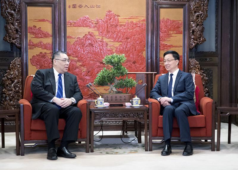 韓正會見崔世安 聽取大灣區規劃建議 - 華發網繁體版