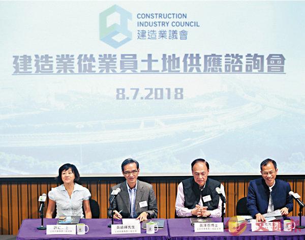 建造業:港極缺地 支持造地 - 華發網繁體版