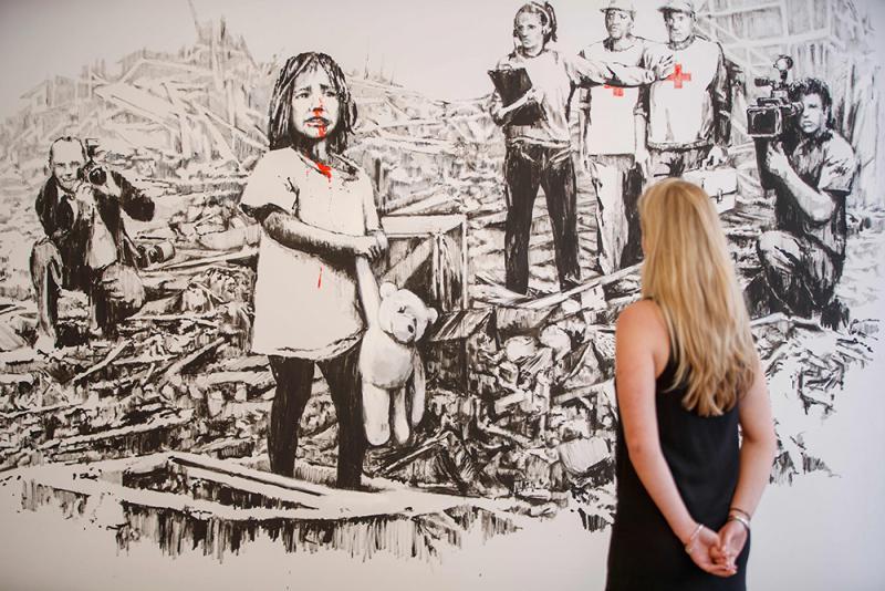 Banksy罕見作品現倫敦畫展 - 華發網繁體版