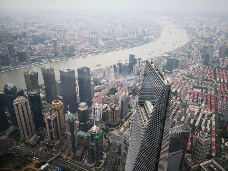 登上上海最高樓