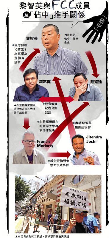 錢志健「坐鎮」壹傳媒向FCC匯報示威