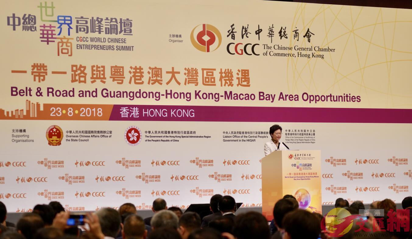 林鄭:大灣區為香港經濟產業注入新動能 - 華發網繁體版