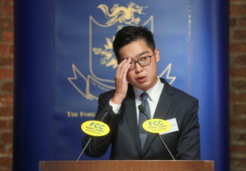 陳浩天FCC宣揚港獨 成取締民族黨新「罪證」
