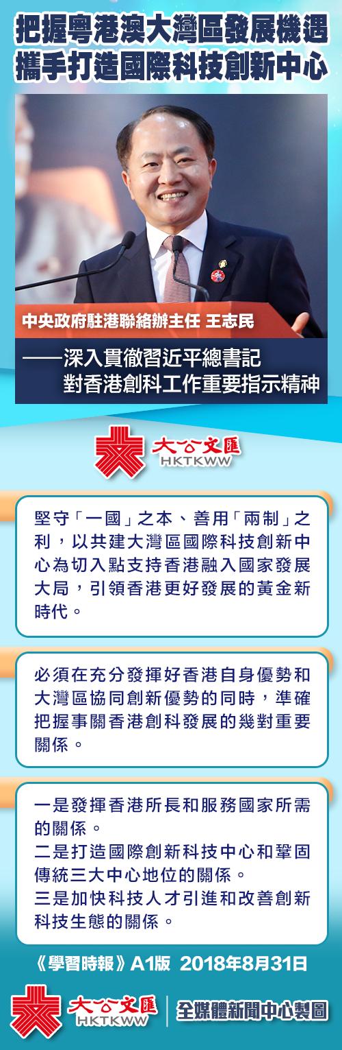 王志民:把握粵港澳大灣區發展機遇 攜手打造國際科技創新中心-華發網繁體版