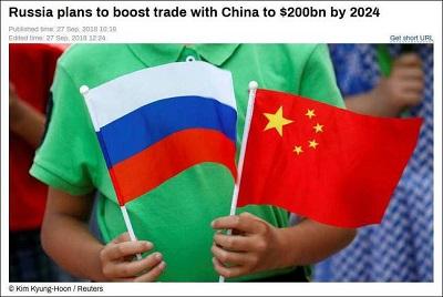 俄政府計劃2024年前將與中國貿易額提至2000億美元