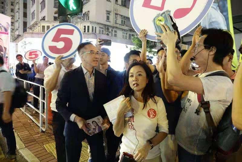 反對派暴力踩場 陳凱欣拉票再遭滋擾