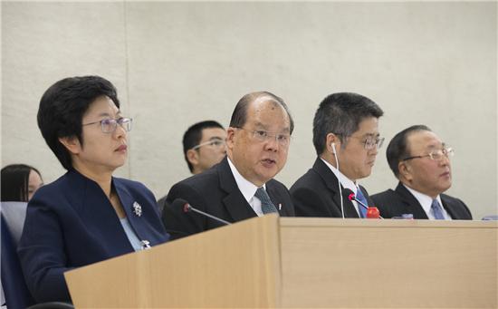 張建宗:香港言論與新聞自由受威脅憂慮屬毫無根據