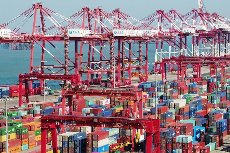 掃貿戰陰霾 中國出口飆15.6%