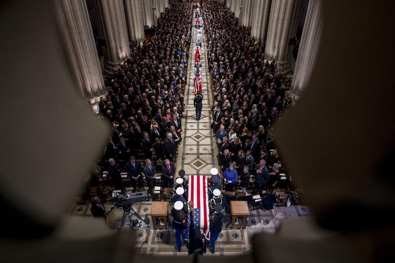老布什國葬 美五總統肅穆送別