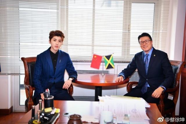蔡徐坤被授予中牙友好大使稱號