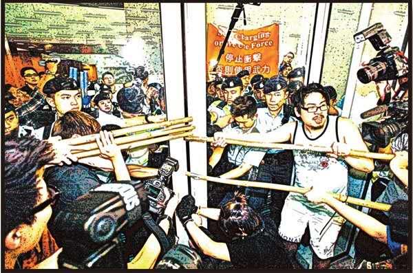 激進派煽紮營 圖演「二次佔中」