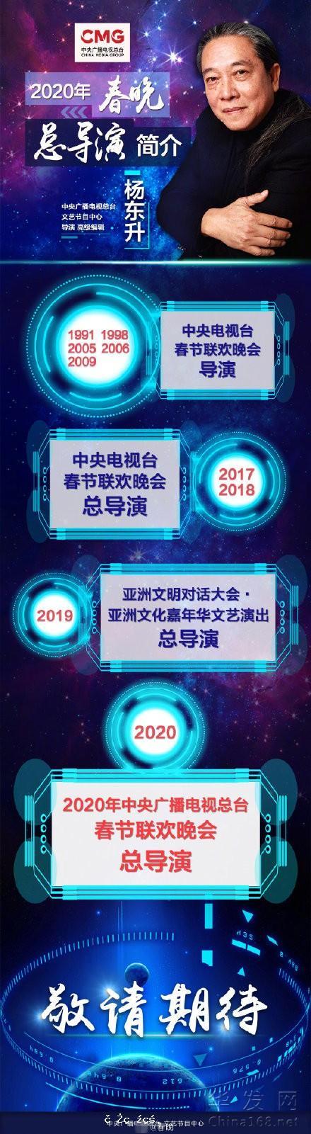 官宣!楊東升將再度擔任2020年春晚總導演