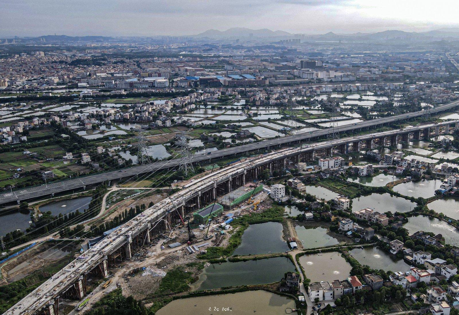南沙港鐵路最大車站主體完工 全線擬年底通車