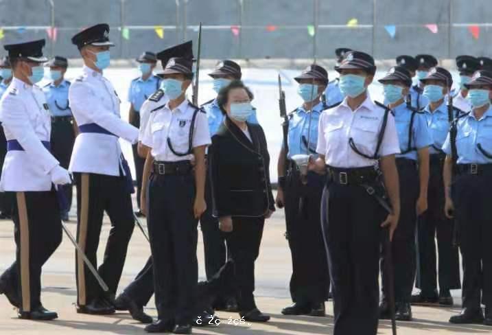 譚惠珠主持警察結業操典禮 高度讚揚警隊貢獻